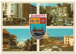 BIARRITZ - Multivues Avec Ecusson - Lavielle 1089 - Annotée En Espagnol - Tbe - Biarritz