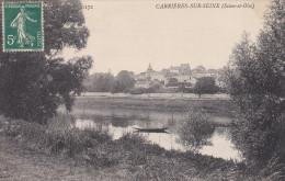 78 Carrières Sur Seine - Vue Du Village Et Barque - Carrières-sur-Seine