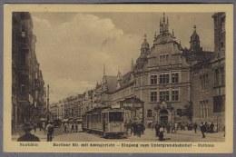 Berlin Neukölin  Berliner Str. Untergrundbahnhof  1927y.  TRAMWAY  Gelaufen B283 - Neukoelln