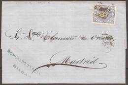 1892 - CARTA CIRCULADA A MADRID - 1868-70 Gobierno Provisional