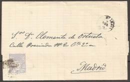 1871 - CARTA CIRCULADA A MADRID - 1868-70 Gobierno Provisional