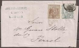 1875 - CARTA CIRCULADA A MADRID - 1868-70 Gobierno Provisional