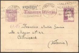 ESPAÑA - TARJETA POSTAL A VALENCIA - 1850-1931