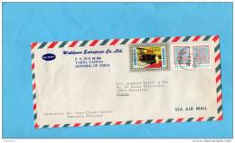MARCOPHILIE-lettre-CHINE -TAIWAN -1976-3stamps N°1071-anniversaire Mort De Tchang  Kai Chek-pour Françe - 1945-... République De Chine