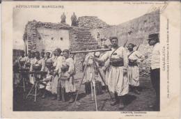 CPA Révolution Marocaine - Section De Mitrailleuse à L' Intérieur De La Casbah De Médiouna - Casablanca