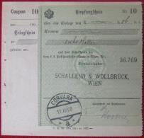 Corvara (BZ) - Zahlscheinabschnitt 1908 - Affrancature Meccaniche Rosse (EMA)