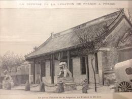 1900 DÉFENSE DE LA  LÉGATION DE FRANCE À PÉKIN - ASILE Philippe JOURDE À MARTIGUE - BREST MONUMENT AUX BRETONS MORTS - Boeken, Tijdschriften, Stripverhalen