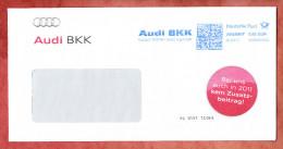 Brief, FRANKIT Neopost 1D030.., Audi BKK Ingolstadt, 55 C, 2011 (27026) - [7] West-Duitsland