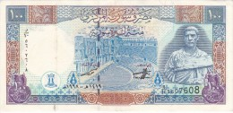BILLETE DE SIRIA DE 100 POUNDS DEL AÑO 1998  (BANKNOTE) TREN-TRAIN-ZUG - Syrie