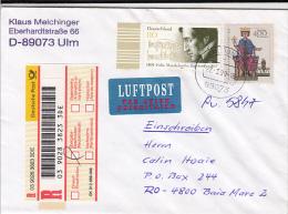 33775- ELIX MENDELSSOHN BARTHOLDY, COMPOSER, EMPEROR FRIEDRICH I, STAMPS ON REGISTERED COVER, 1999, GERMANY - Storia Postale