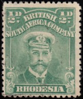 RHODESIA British South Africa Company - Scott #119 King George V (*) / Used Stamp - Great Britain (former Colonies & Protectorates)