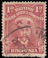 RHODESIA British South Africa Company - Scott #120a King George V 'Perf.: 15' / Used Stamp - Great Britain (former Colonies & Protectorates)
