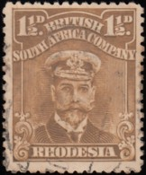 RHODESIA British South Africa Company - Scott #121 King George V (*) / Used Stamp - Great Britain (former Colonies & Protectorates)