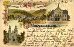 SONNEBERG, Gruss Aus ..., Rathaus, Kirche, Panorama, Wiedemann, Saalfeld, Gelaufen 1901 - Allemagne
