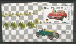 4x AJMAN - MNH - Transport - Cars - Opel Aero GT - Cars