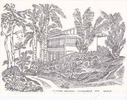CPSM 10X15 . GABON  . LAMBARENE 1972. CLinique Dentaire . Illust.BECHTLE ( Dentiste . Dentisterie ) - Gabon