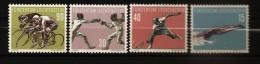 Liechtenstein 1958 N° 327 / 30 ** Sport, Natation, Escrime, Tennis, Cyclisme, Vélo, Piscine, Plongeon, Epée, Sprint - Liechtenstein