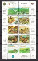 Venezuela 1998,10V In Sheetlet,birds,vogels,vögel,oiseaux,flowers,fish,frogs,Amazonica,mountains,,MNH/Postfris(L2000) - Vogels