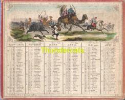 CALENDRIER ALMANACH  1850  EDITEUR A. TARDIF 28 RUE DE RAMBUTEAU PARIS  THEME CHASSE ORIENT AFRIQUE ALGERIE TUNESIE ?? - Calendarios