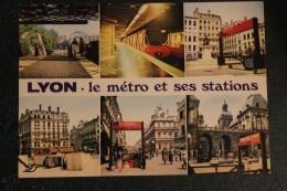 CPM 69 * LYON  LE METRO ET SES STATIONS - Metro