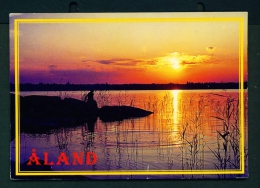 FINLAND  -  Aland  Sunset  Used Postcard As Scans - Finland