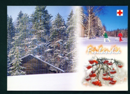 FINLAND  -  Winter  Multi View  Used Postcard As Scans - Finland