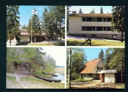 FINLAND  -  Hameenlinna  Bible School  Multi View  Used Postcard As Scans - Finland