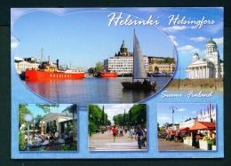 FINLAND  -  Helsinki  Helsingfors  Multi View  Used Postcard As Scans - Finland