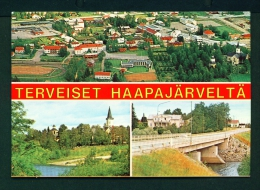 FINLAND  -  Haapajarvi  Multi View  Used Postcard As Scans - Finland