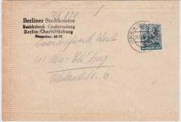 Berlin (West) Mi 7 EF OrtsBf Charlottenburg 1948 - Cartas
