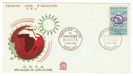 Côte D'Ivoire // Lettre 1er Jour 10ème Anniversaire De La C.C.T.A. - Côte D'Ivoire (1960-...)