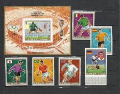 AJMAN  Football Soccer World Cup 1970  6v.+SS Imperf. - World Cup