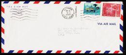1969. 3 + 30 D. SAIGON 4 2 1969 To USA. Inverted Year 1969.  (Michel: 411+) - JF177295 - Briefmarken