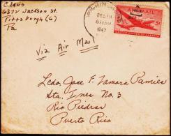 1947. 5 C. AIR MAIL WILKINSBURG DEC 19 1947. To PUERTO RICO.  (Michel: USA 549) - JF177463 - Briefmarken