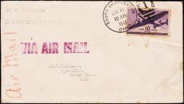 1942. 10 C. AIR MAIL SOUTH CHARLESTON APR 11 1942. To PUERTO RICO.  (Michel: USA 502) - JF177466 - Briefmarken