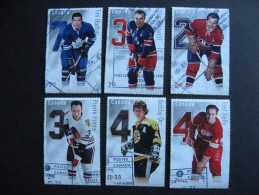 Canada $2.50 Hockey Souvenir Sheets Full Set Sc 2788-03 Postally Used! - Canada