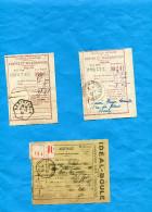 3-Récépissés -Postes Et-télégraphe-cad PARIS 26 Sept 28+hexagonal Paris 26 Aout 1932+paris 68 Sept 25-+Publicité - Marcophilie (Lettres)