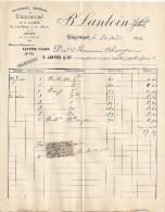 ENTREPOT GENERAL DES VERRERIES DE LA LOIRE DU RHONE ET DU MIDI-OSIER EN TOUS GENRES    B. LANTOIN 1904 - France