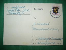 Germany: Postkarte Postcard Stamp Zone Francaise 12 Pf - Speyer - Stuttgart 1947 - Zone Française