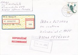 K5424 - Czech Rep. (2002) 700 33 Ostrava 33 (APOST Label) R-letter, Tariff: 14,40Kc (stamp: Sign Of The Zodiac) - Astrologia