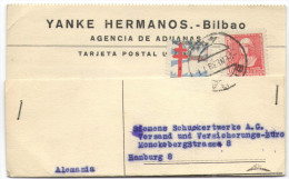SPAGNA - ESPAÑA - Spain - Espagne - 1939 - Isabel La Catolica + Pro Tuberculosos Pobres 1938 - Viaggiata Da Bilbao Pe... - 1931-Hoy: 2ª República - ... Juan Carlos I