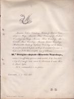 OOSTROZEBEKE OOSTROOSBEKE Georgine VANROBAYS, 17 Ans En 1860 Doodsbrief Fille Du Notaire - Décès