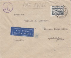 1940 . LETTRE LETTONIE. LATVIJA COVER .PAR AVION.  RIGA - LYON  / 6703 - Airplanes