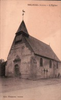CPA  SALOUEL: L'Eglise. Animée. Ecrite. - France