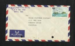 Fiji 1987 Air Mail Postal Used Cover Fiji To Pakistan - Fiji (1970-...)