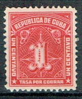 Kuba 1915-1927 Portomarken Michel N° 1 MLH - Kuba