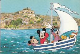 GREECE - Disney/Minnie-Mickey-Goofy-Donald, Crete/Lassithi-Spinaloga, Unused - Disney
