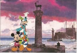 GREECE - Disney/Mickey-Goofy-Donald, Rhodes Island, Unused - Disney