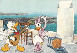 GREECE - Disney/Donald & Daisy, Santorini Island, Unused - Disney