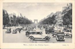 75 Paris Avenue Des Champs Elysées Avec Automobiles (Scan Recto Verso) - Transport Urbain En Surface